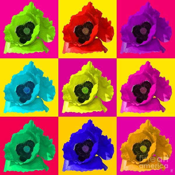 Revolting Digital Art - Poppies Multi by Neil Finnemore