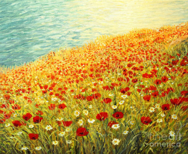 Wall Art - Painting - Poppies Of Kaliakra II by Kiril Stanchev