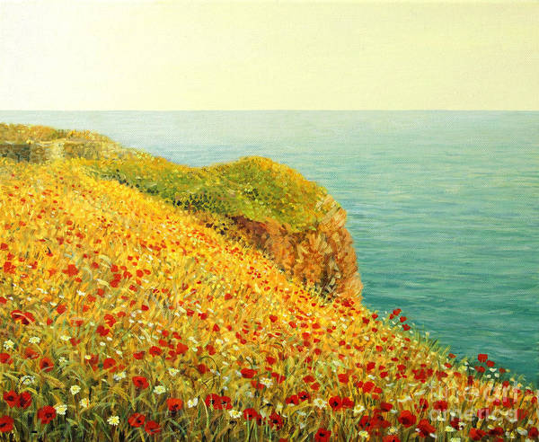 Wall Art - Painting - Poppies On Kaliakra by Kiril Stanchev