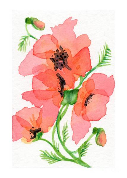 Atc Painting - Poppy by Amy-Elyse Neer