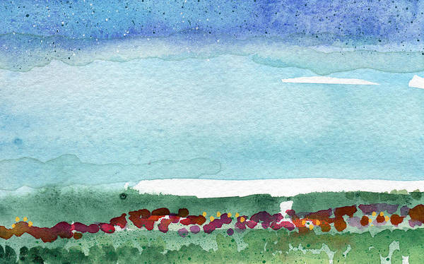 Reserve Wall Art - Painting - Poppy Field- Landscape Painting by Linda Woods