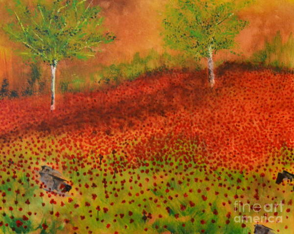 Painting - Poppy Fields by Denise Tomasura