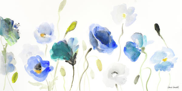 Wall Art - Painting - Poppy Line Up by Lanie Loreth