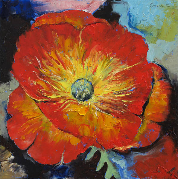 Pavot Wall Art - Painting - Poppy by Michael Creese