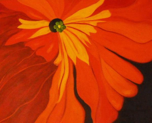 Maroon Painting - Poppy by Nancy Merkle