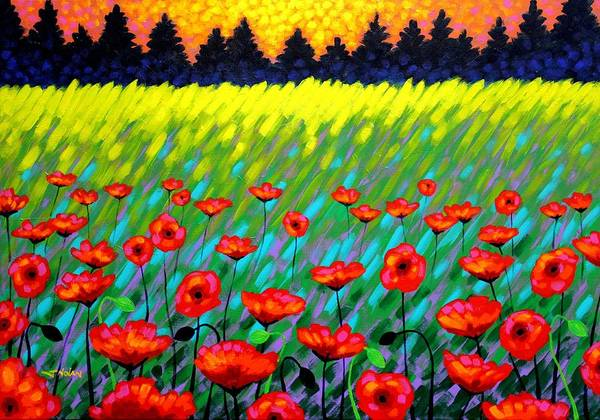 Wall Art - Painting - Poppy Scape by John  Nolan