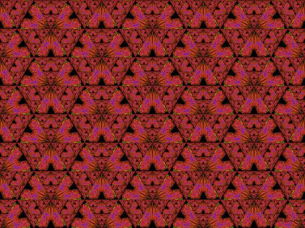 Digital Art - Poppy Sierpinski Triangle Fractal by Judi Suni Hall