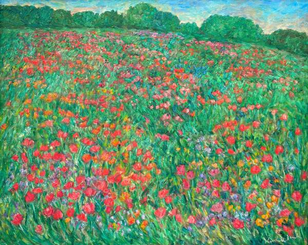 Painting - Poppy View by Kendall Kessler