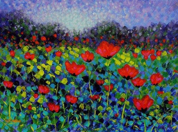Homage Wall Art - Painting - Poppy Vista by John  Nolan