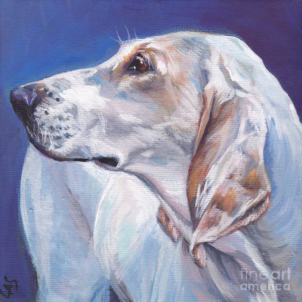 Wall Art - Painting - Porcelaine Hound by Lee Ann Shepard