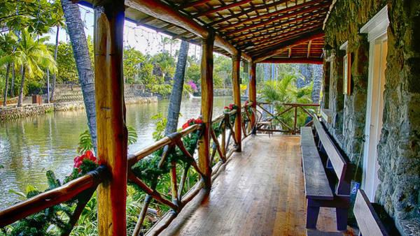 Photograph - Porch Cultural Center Hawaii by Wayne Wood