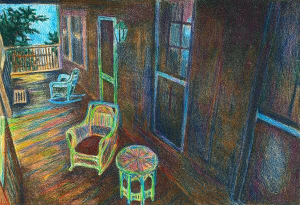 Drawing - Porch Lithograph by Kendall Kessler