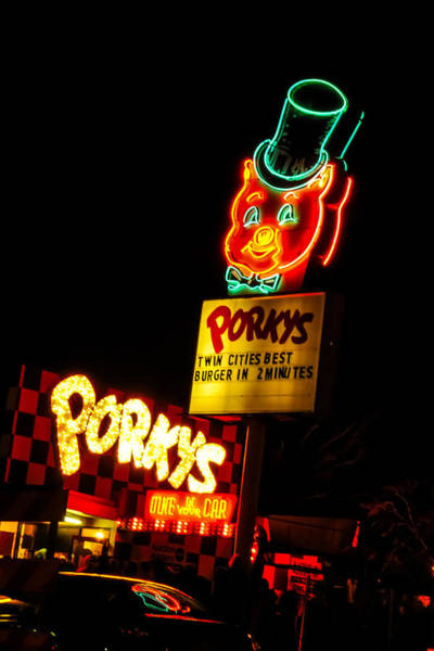 Wall Art - Photograph - Porky's Drive In by Near and Far Photography