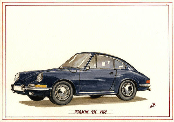 911 Painting - Porsche 911 Classic by Juan  Bosco