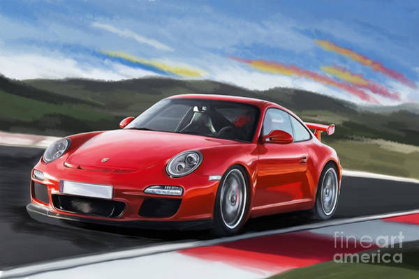 911 Painting - Porsche 911 Gt3 by Tim Gilliland