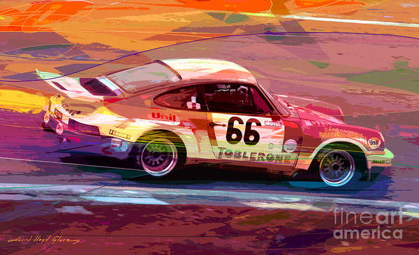911 Painting - Porsche 911 Racing by David Lloyd Glover