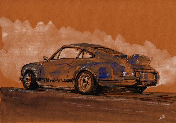 Wall Art - Painting - Porsche 911 Rs Classic by Juan  Bosco