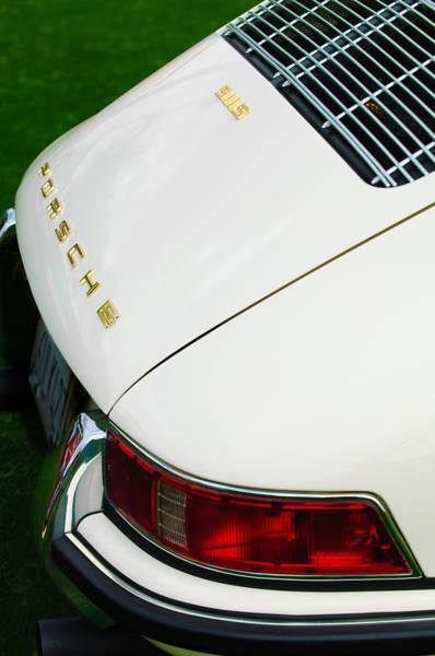 Photograph - 1967 Porsche 911s Taillight Emblem by Jill Reger