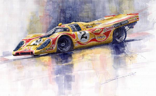 Motorsport Painting - Porsche 917 K Martini Kyalami 1970 by Yuriy Shevchuk