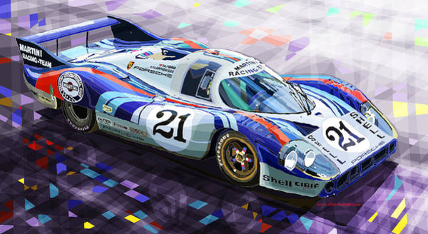 Racing Car Digital Art - Porsche 917 Lh Larrousse Elford 24 Le Mans 1971 by Yuriy Shevchuk