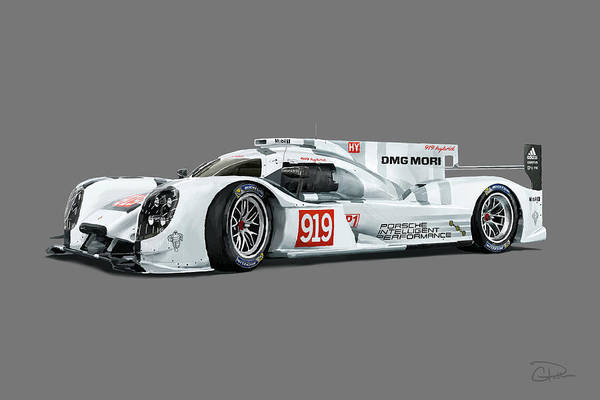 Autosport Wall Art - Digital Art - Porsche 919 by Charley Pallos