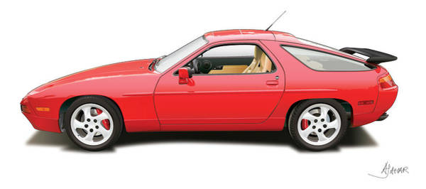 Wall Art - Digital Art - porsche 928 S4 by Alain Jamar