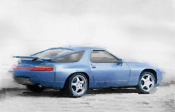 Wall Art - Painting - Porsche 928 Watercolor by Naxart Studio