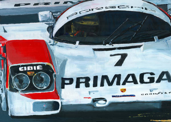 Le Mans 24 Wall Art -  - Porsche 962 Le Mans 24 by Yuriy Shevchuk