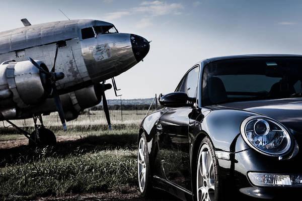 Fredericksburg Wall Art - Photograph - Porsche Takes Flight by Bob Rapfogel