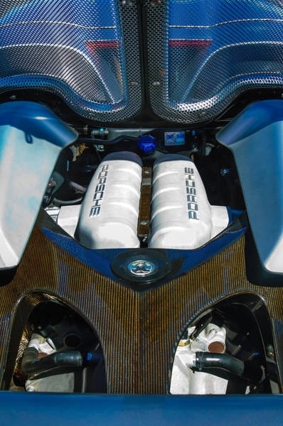 Photograph - Porsche Carrera Gt Engine -0339c by Jill Reger