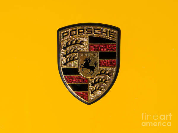 Photograph - Porsche Emblem Dsc2484 by Wingsdomain Art and Photography