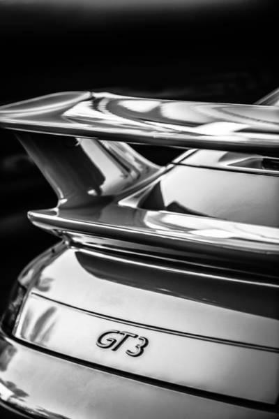 Photograph - Porsche Gt 3 Emblem -1577bw by Jill Reger