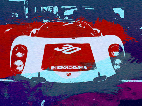 Wall Art - Painting - Porsche Le Mans Racing by Naxart Studio