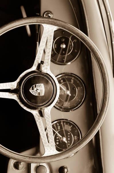 Custom Photograph - Porsche Sepia Iphone 3 by Jill Reger