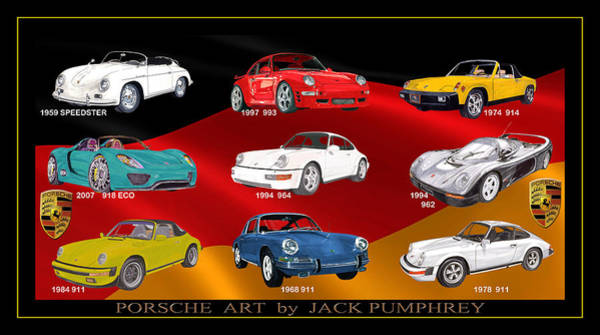 911 Painting - Porsche Times Nine by Jack Pumphrey