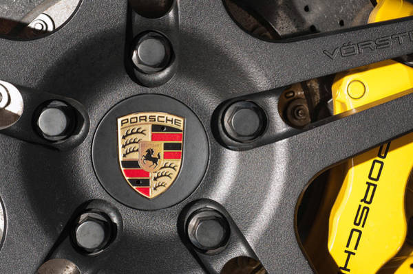 Photograph - Porsche Vorsteiner Wheel Logo by Dan McManus