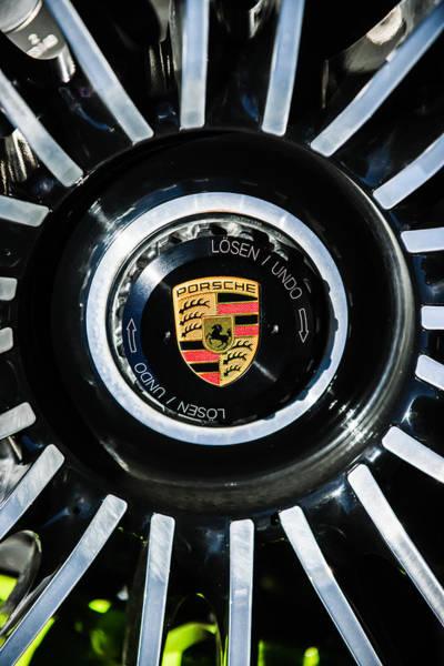 Photograph - Porsche Wheel Emblem -1082c by Jill Reger
