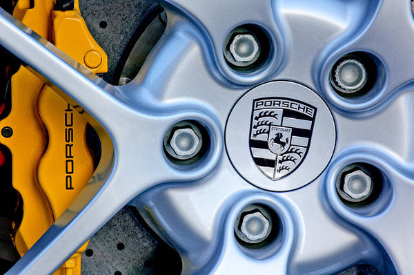 Photograph - Porsche Wheel Emblem by Jill Reger