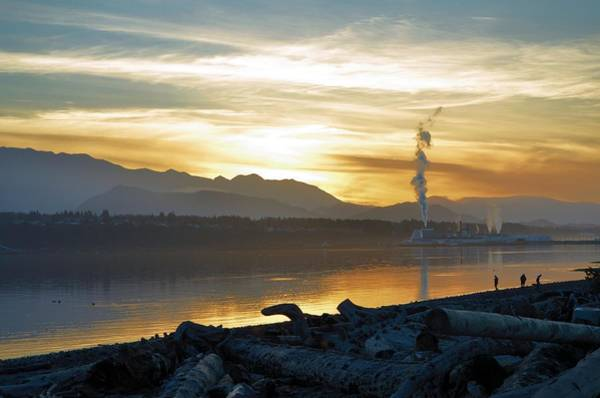 Ediz Hook Wall Art - Photograph - Port Angeles Sunset by Lizzie  Morrison