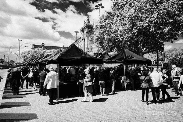 Antic Photograph - Port Antic Antiques Market On A Sunday Morning In Barcelona Catalonia Spain by Joe Fox