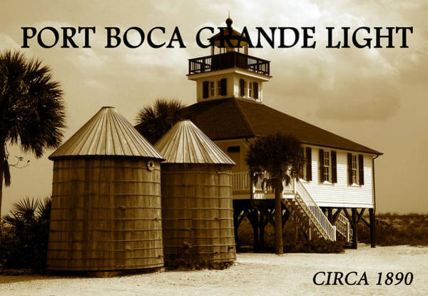 Boca Grande Photograph - Port Boca Grande Light 1890 by David Lee Thompson