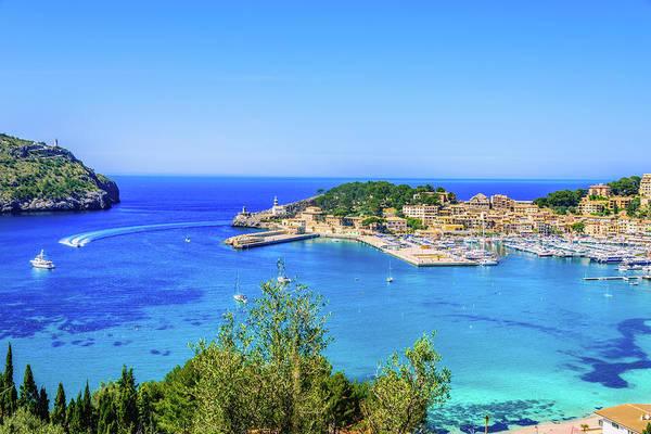 Luxury Yacht Photograph - Port De Soller Mallorca by Juergen Sack