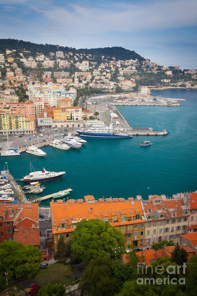 Anchor Photograph - Port Du Nice by Inge Johnsson