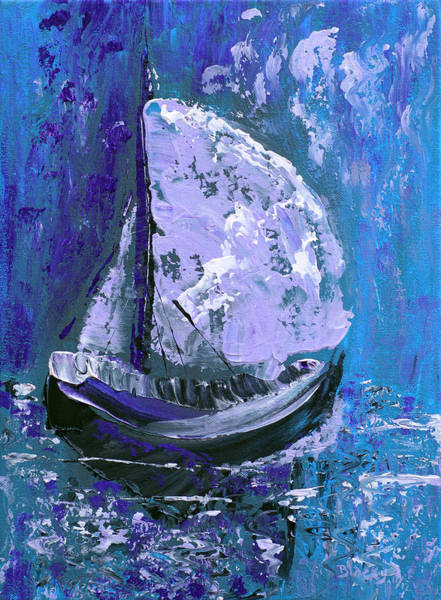Wall Art - Painting - Port In The Storm by Donna Blackhall