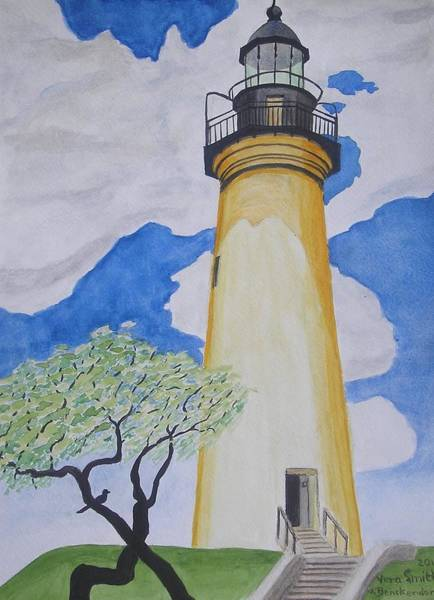 Painting - Port Isabel Lighthouse by Vera  Smith