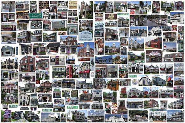 Port Jefferson Photo Collage Art Print