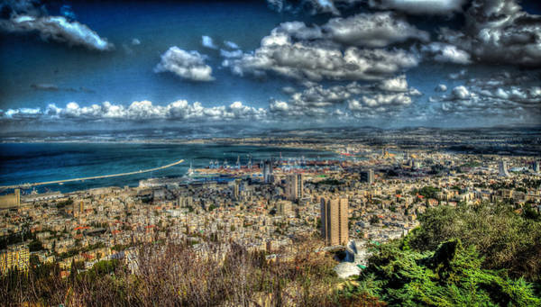 Photograph - Port Of Haifa Hdr by David Morefield