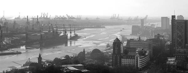 Photograph - Port Of Hamburg Horizon by Marc Huebner