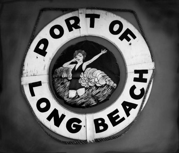 Port Of Long Beach Life Saver By Denise Dube Art Print