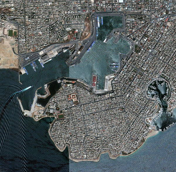 Wall Art - Photograph - Port Of Piraeus by Geoeye/science Photo Library